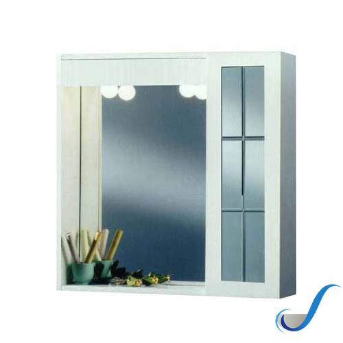 Specchio Bagno Mobile.Mobile Specchio Bagno 1 Anta Bianco Solimando Forniture