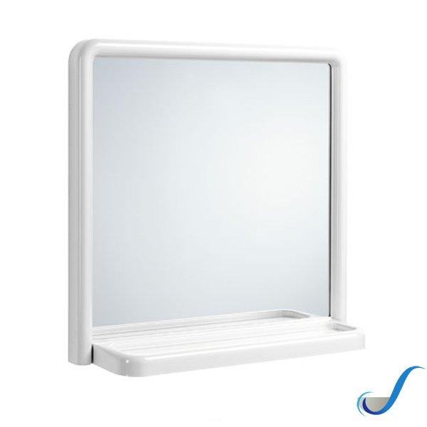 Specchio Accessori Bagno.Specchio Athene Cm 50 X 51 In Pvc Con Mensola Accessori Bagno