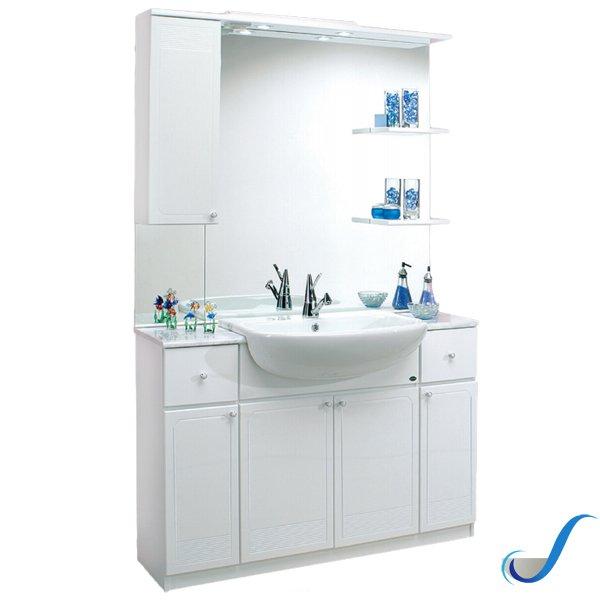 Aqua Mobili Da Bagno.Composizione Mobile Bagno Angela 120 Con Cassetti Lavabo E