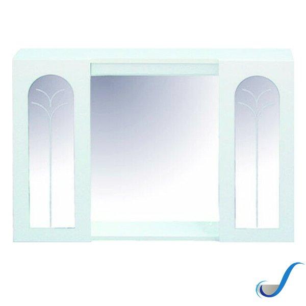 Specchio Bagno Con Ante.Mobile Specchio Bagno Garantiti 2 Ante Laccato Bianco Savini