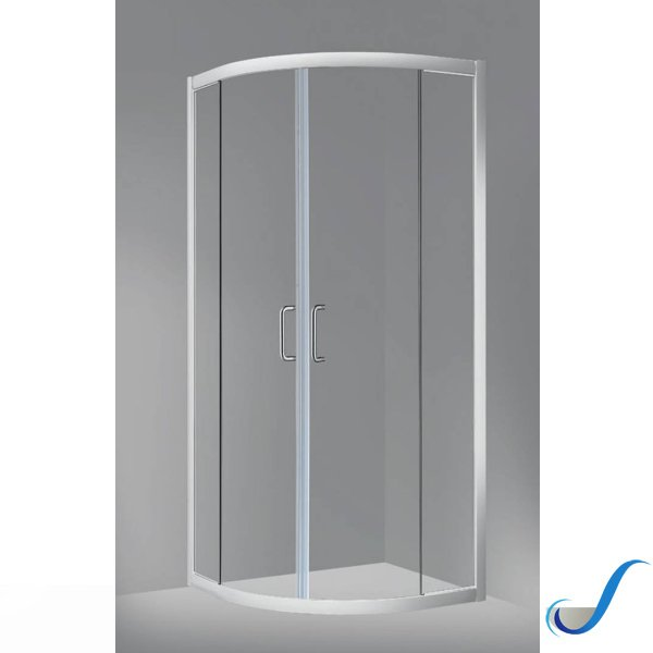 Ante Box Doccia Scorrevoli.Box Doccia Semicircolare In Alluminio 2 Ante Scorrevoli Giava Modello Miami 4 Bianco