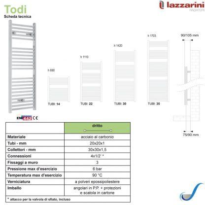Scaldasalviette-Todi-lazzarini-scheda-tecnica