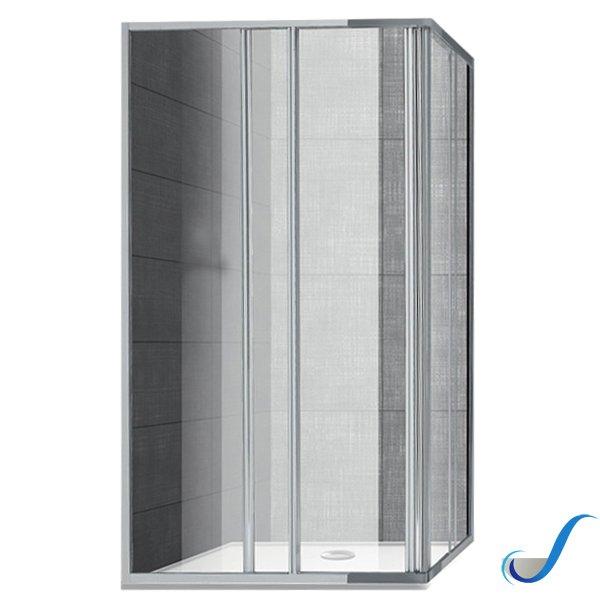 Box Doccia Ante Scorrevoli.Box Doccia Angolare In Alluminio 2 Ante Scorrevoli Giava Modello