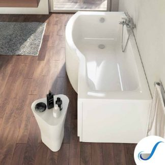 VASCA DA BAGNO ASIMMETRICA IN ACRILICO SERIE CONNECT IDEAL STANDARD