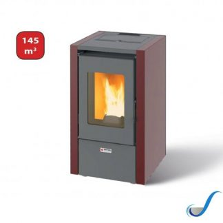 STUFA A PELLET ALTA EFFICIENZA MIGNON 6 BIANCA O BORDEAUX 6,15 KW